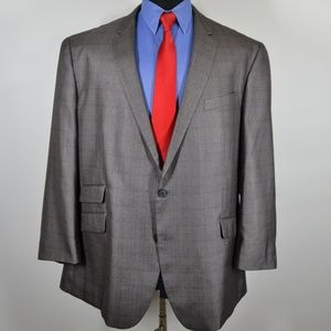 Kenneth Cole 50R Sport Coat Blazer Suit Jacket Sil
